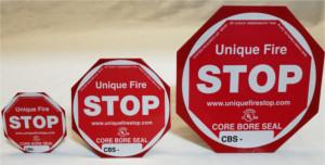 UNIQUE Core Bore Seal Firestop System Top view
